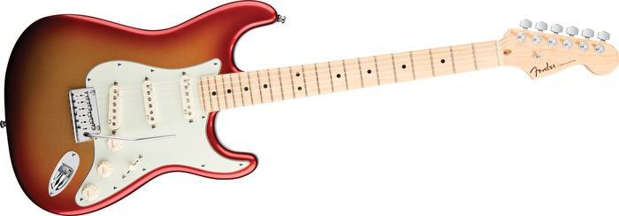 2010 American Deluxe Stratocaster Sunset Metallic